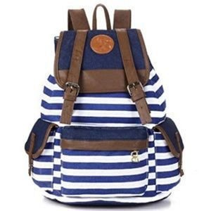 🎉HP🎉NEW Unisex Striped Canvas Backpack